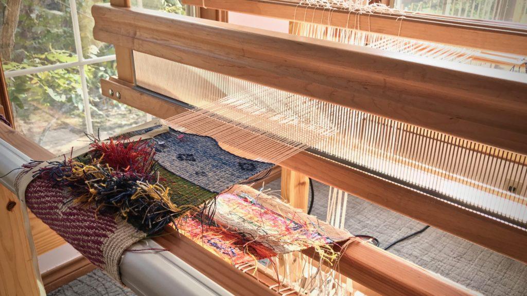Tapestry / inlay sampler. All linen. Morning light!