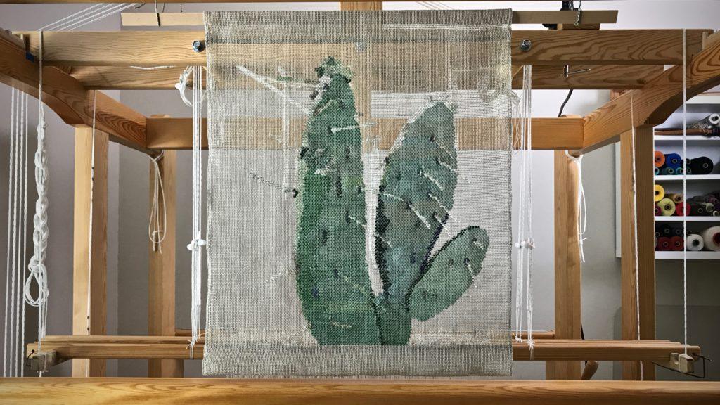 Woven transparency cactus. Karen Isenhower