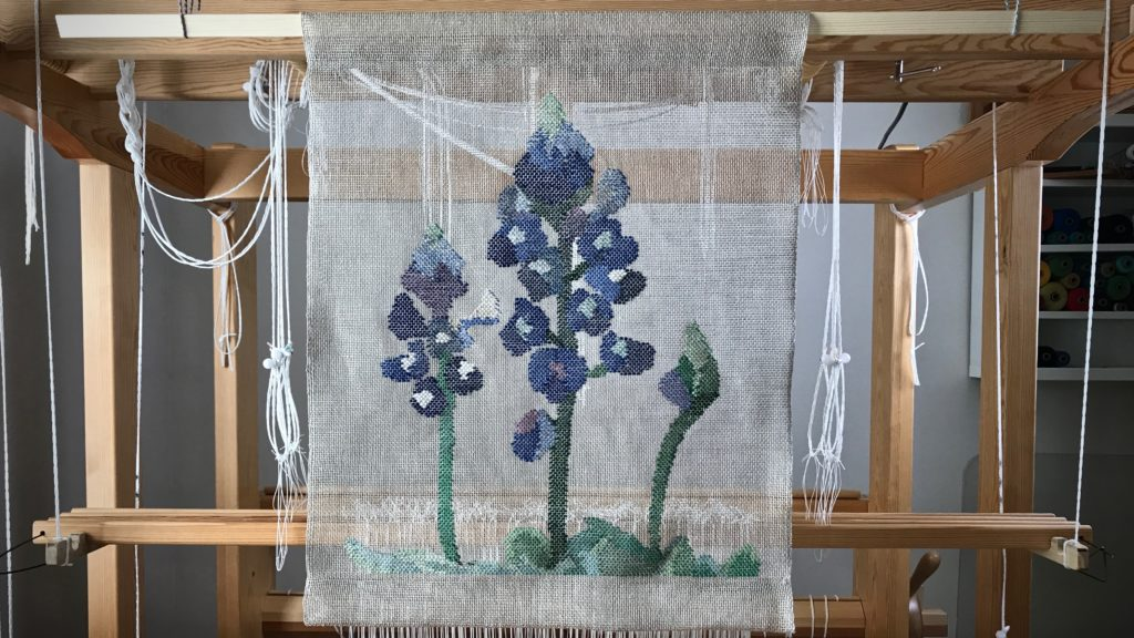 Woven transparency bluebonnets. Karen Isenhower