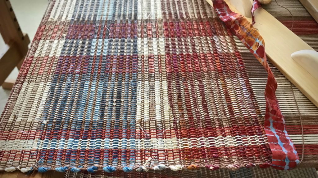 Tight selvedges on this rag rug.