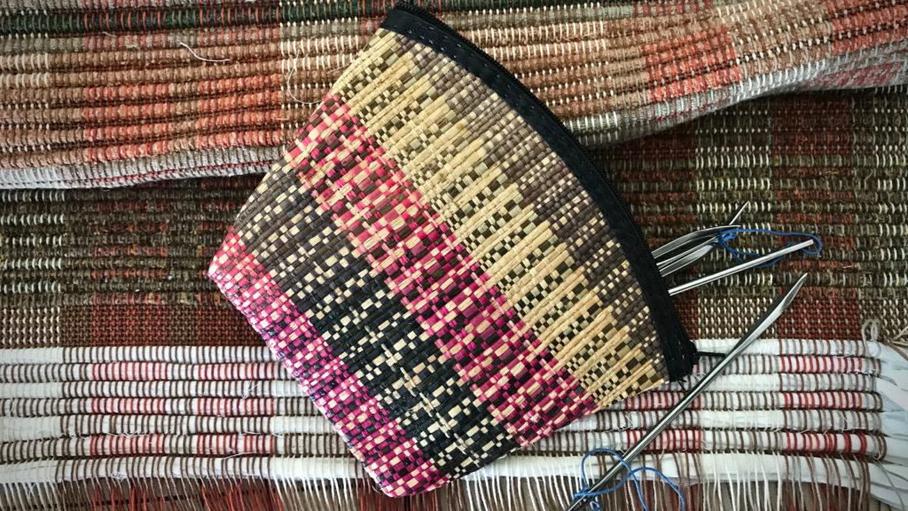 Woven pouch from The Philippines.