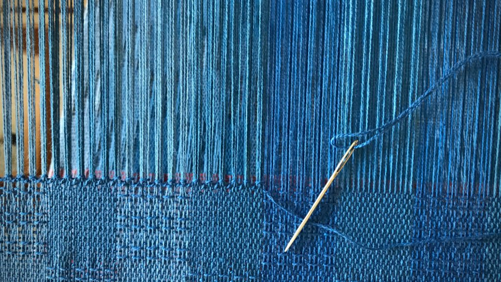 Hemstitching at the loom.