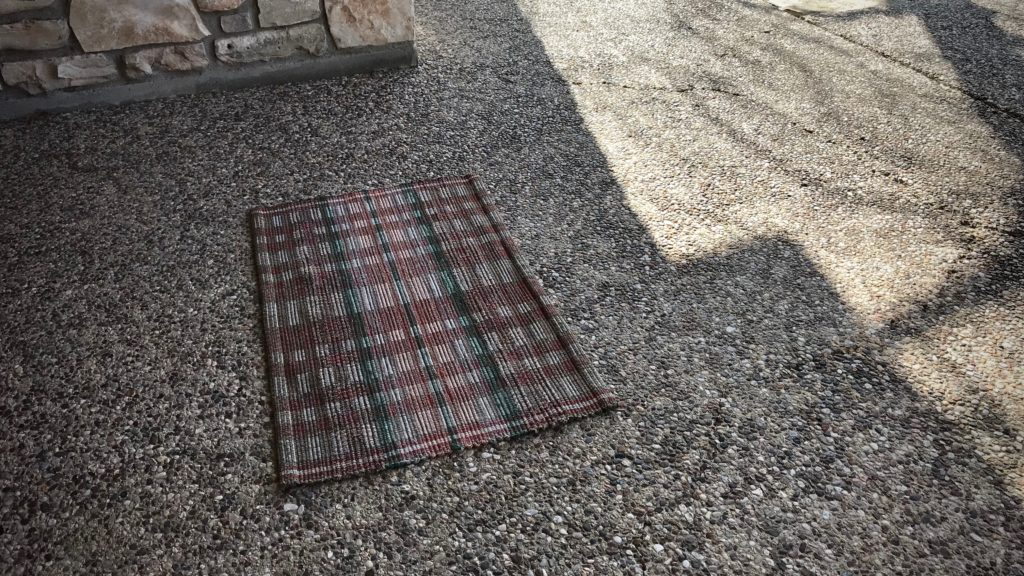 Wool rag rug