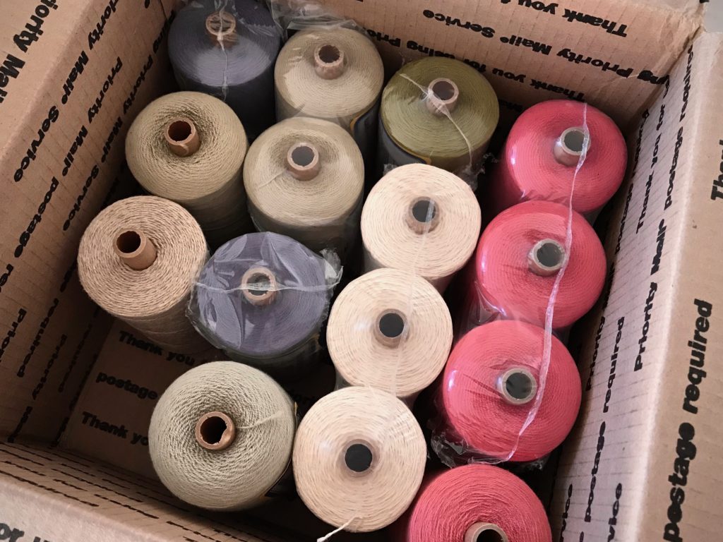 Cotton and linen for planned coordinating textiles.