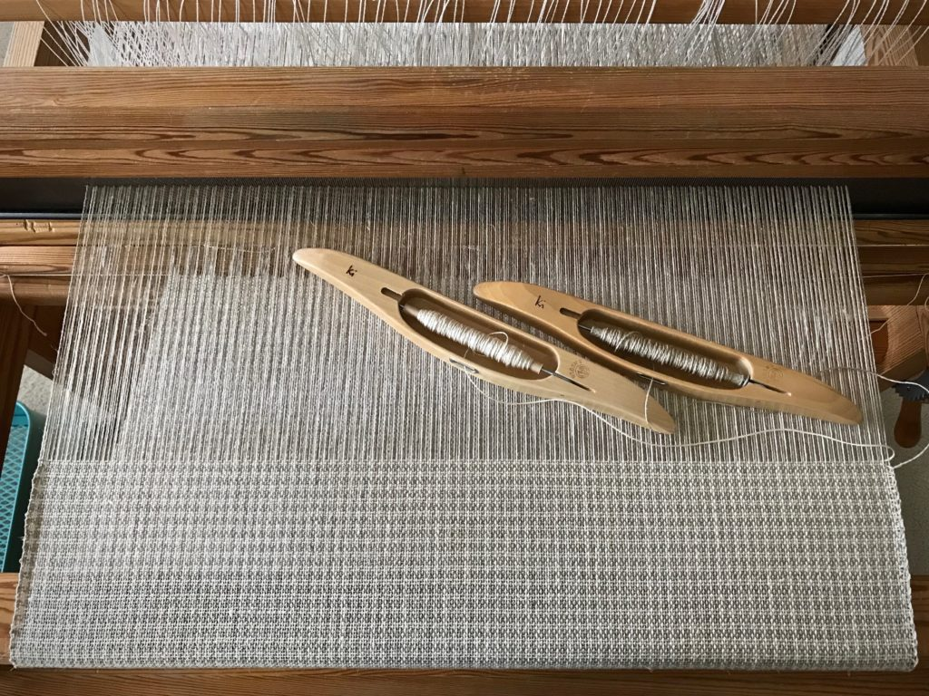 Linen on the loom.