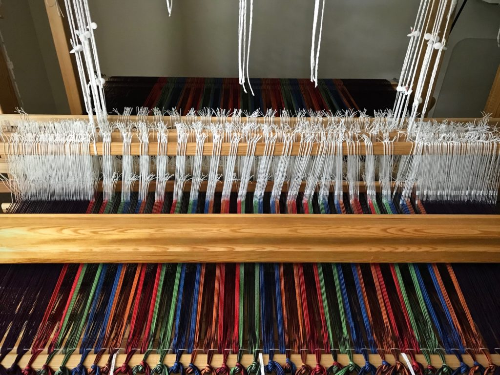 Double weave throw on the loom.