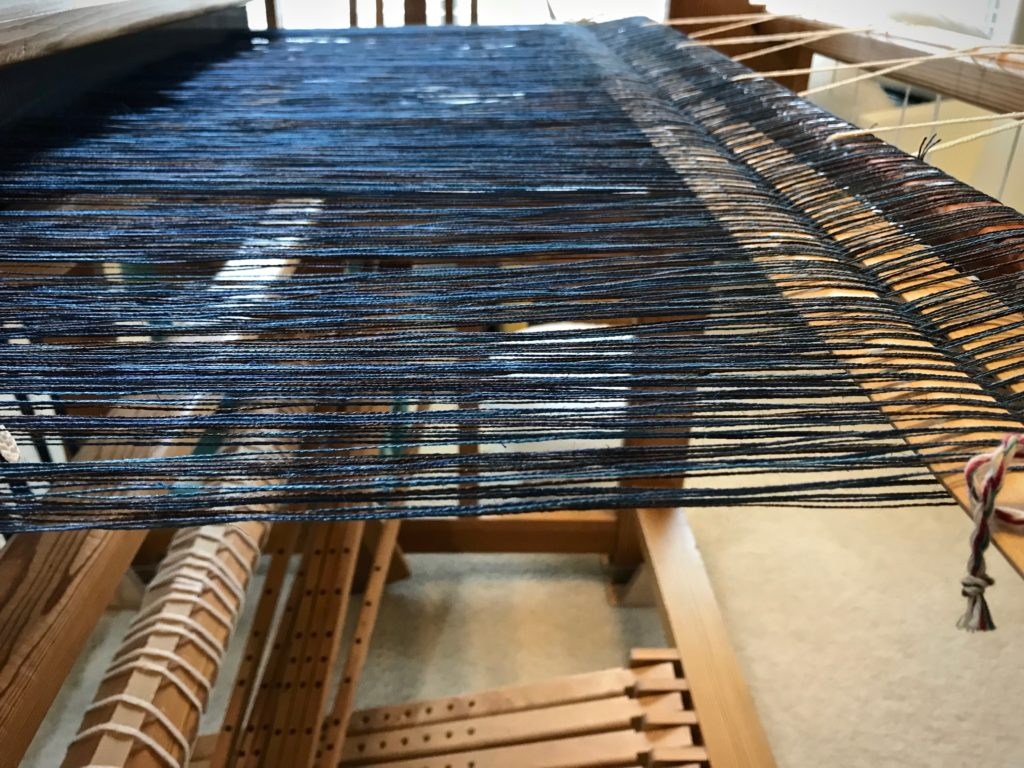 Ready to beam this linen warp on my Glimakra Ideal loom.