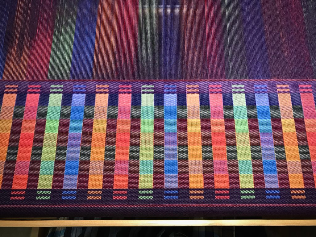Double weave sample on the loom. May be my favorite sample yet!