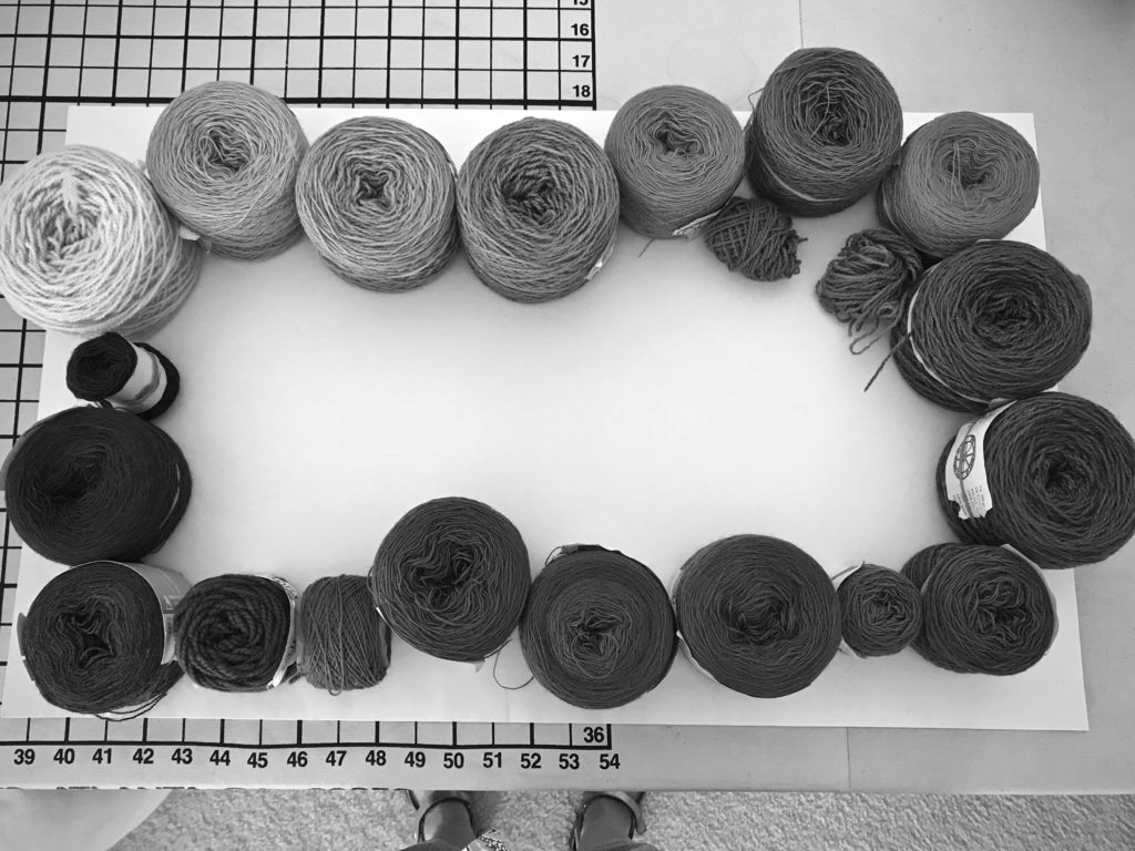 Yarn in order by value. Blog post explanation.