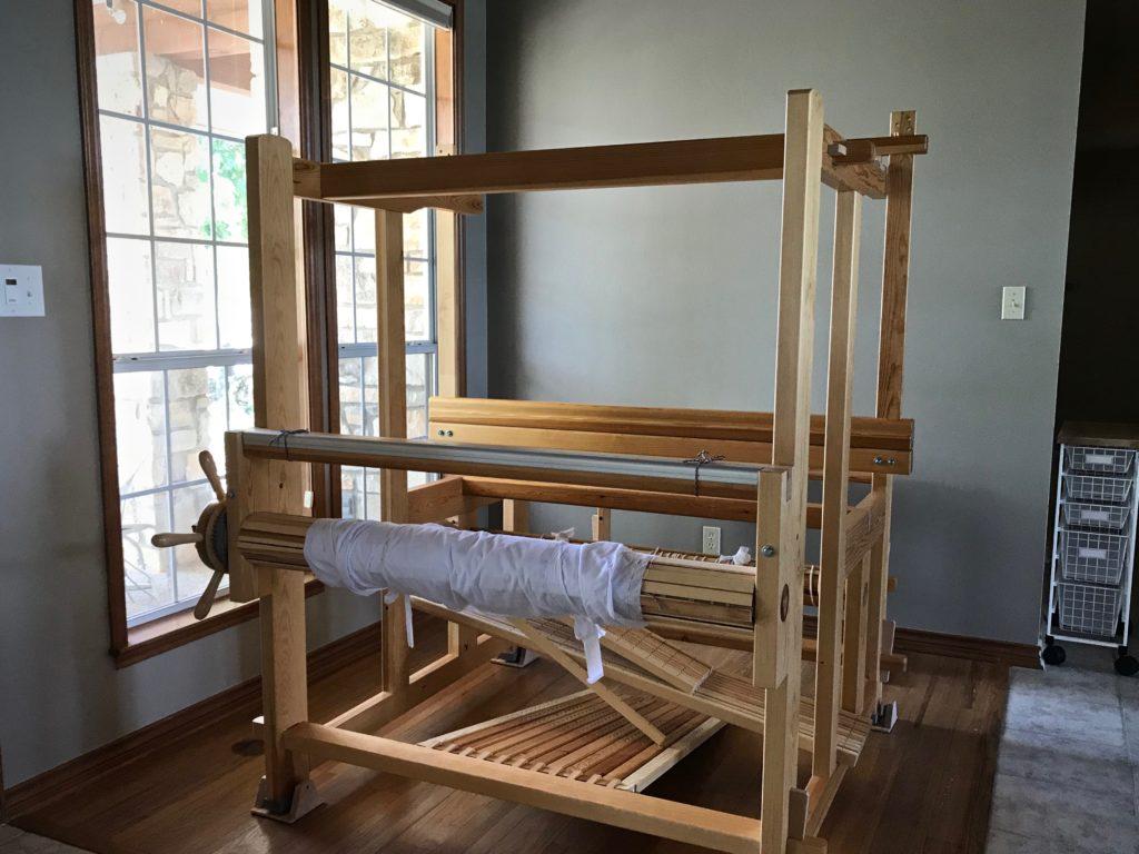 Reassembling the Glimakra Standard loom.