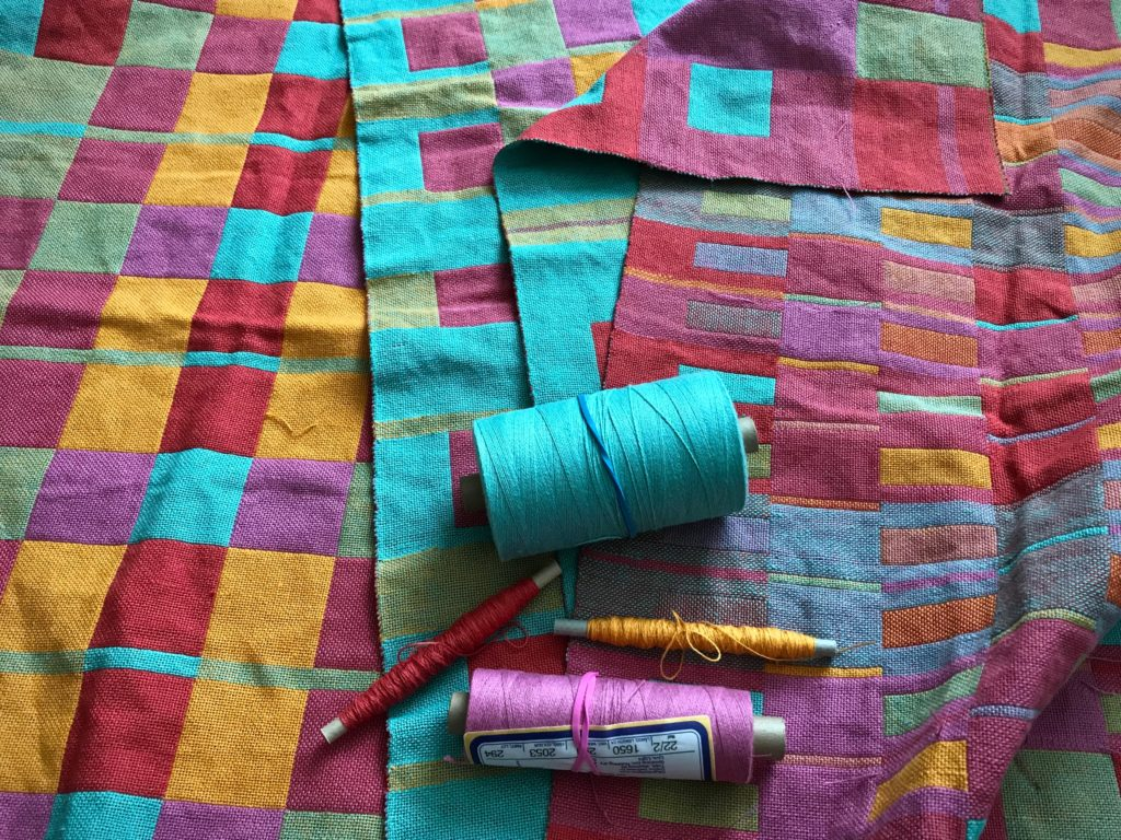Planning to weave hanging tabs for handwoven towels. Karen Isenhower