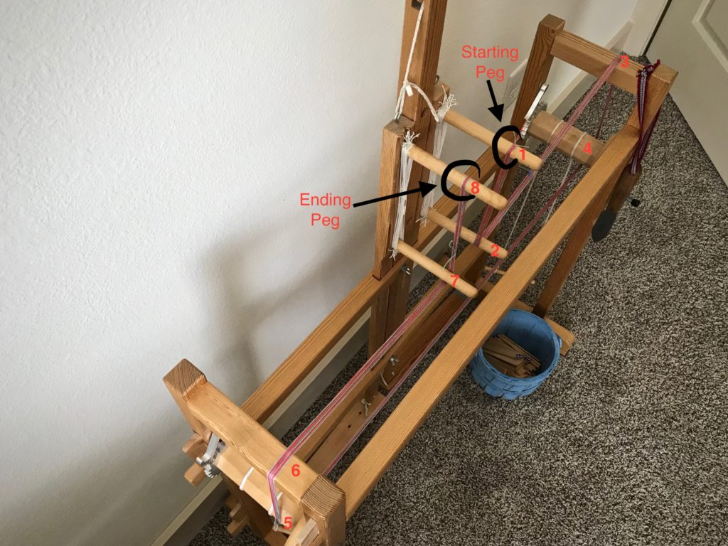 How to use the band loom as a warping board.