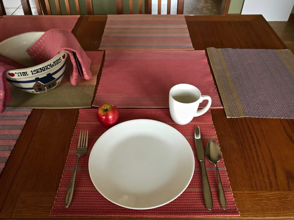 New handwoven cotton placemats.
