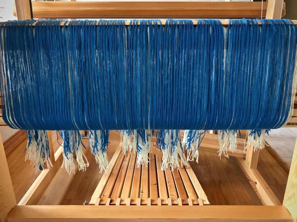 Tuna wool warp on Glimakra Standard.