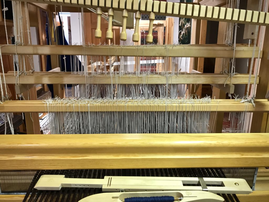 Shaft drawloom in Joanne Hall's studio.