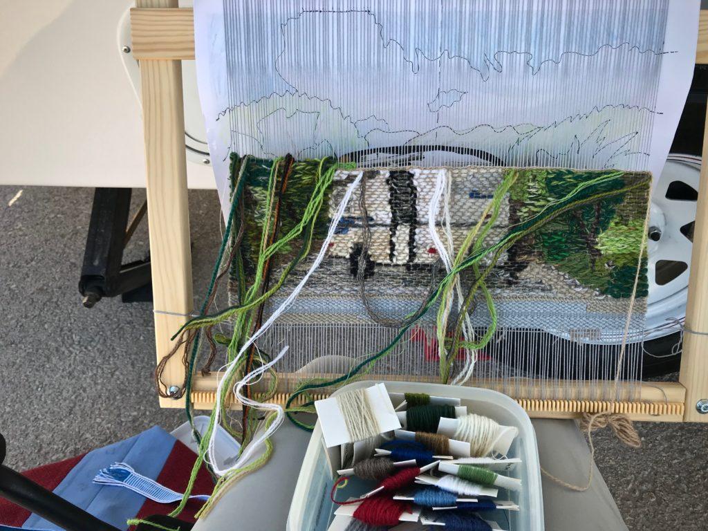 Casita Travel Trailer - tapestry in progress!