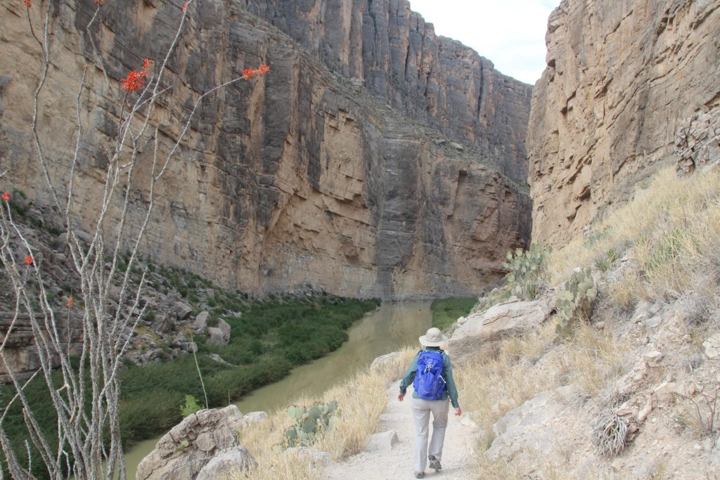 Hiking the Santa Elena Canyon in Big Bend National Park.