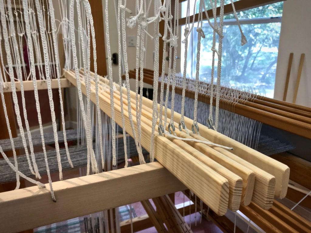 Adding pattern shafts to the drawloom.