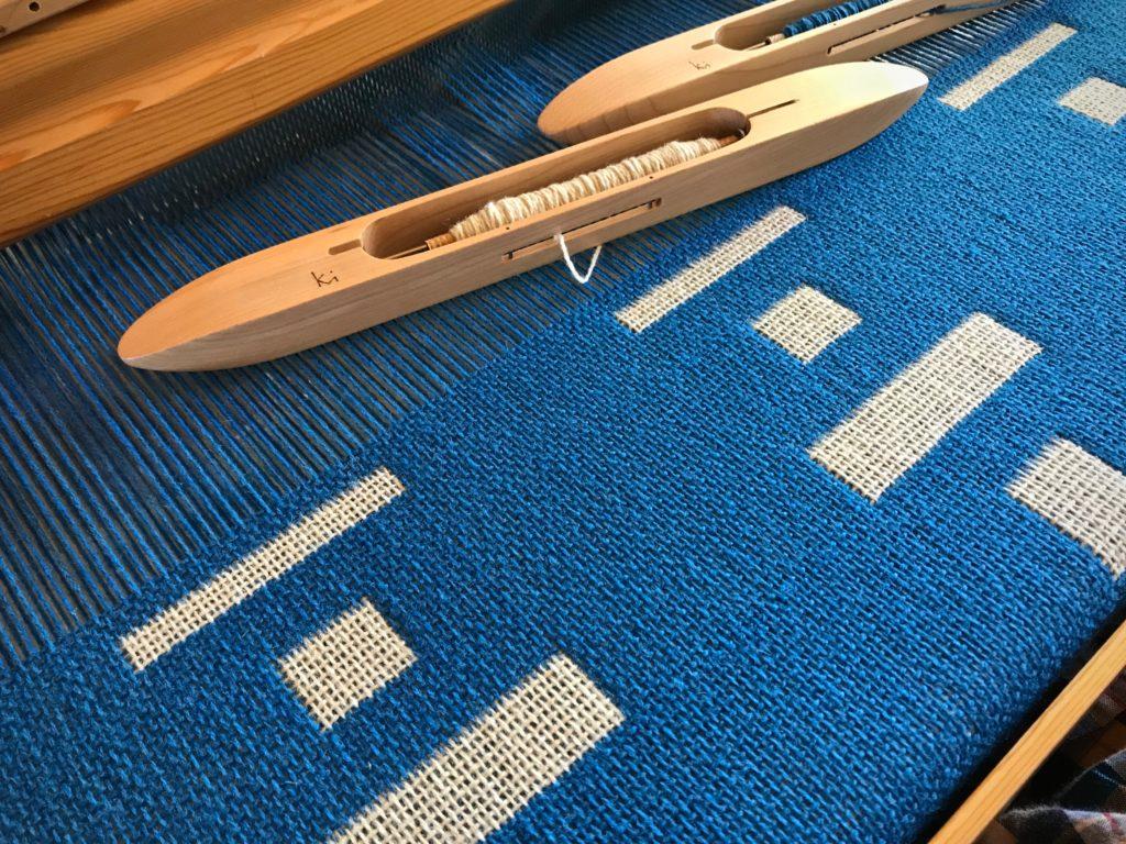 Double weave Tuna wool blanket.