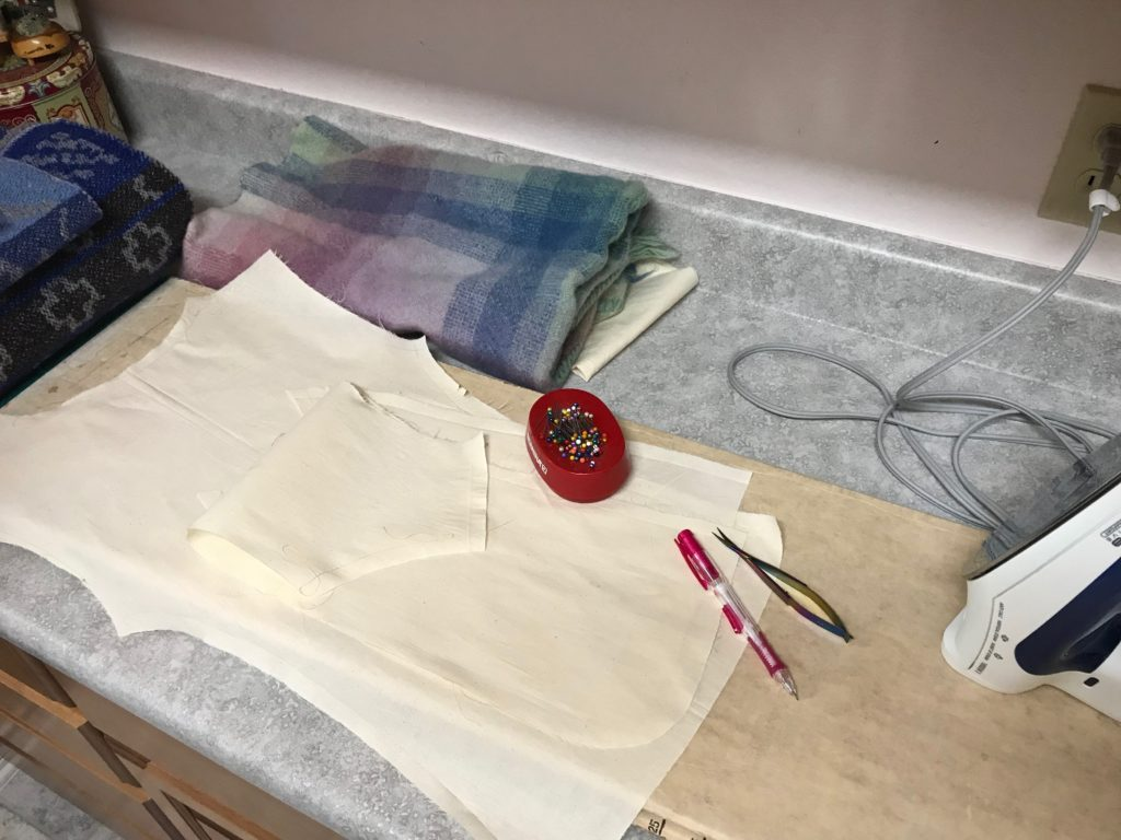 Making a pattern for handwoven garment fabric.