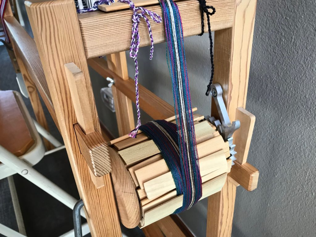 New warp on the Glimakra band loom.