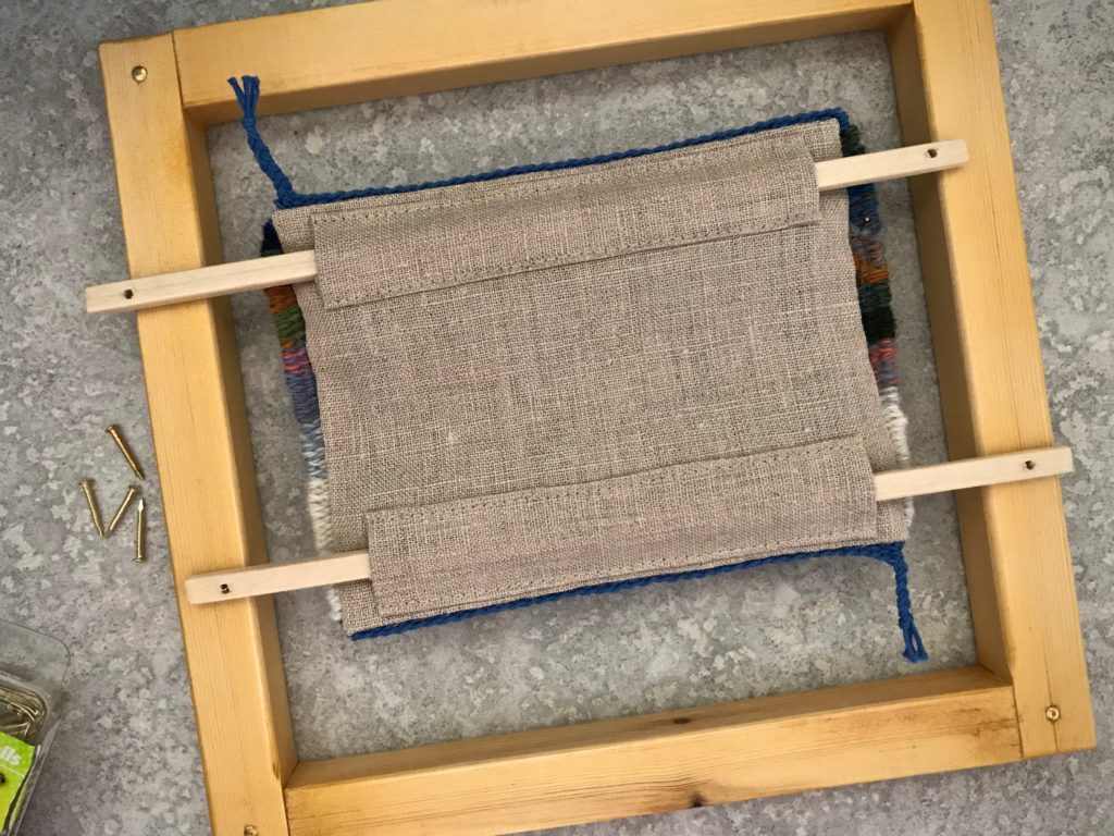 Simple frame for a small tapestry.