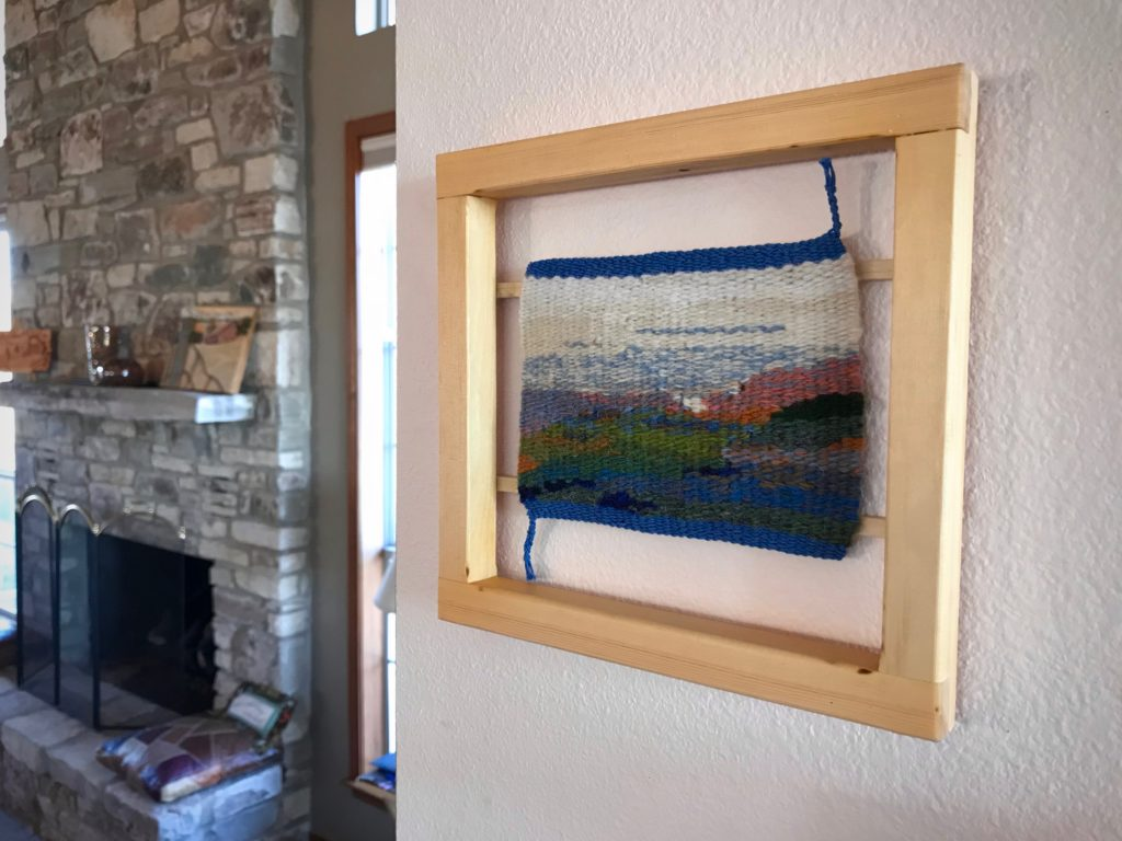 Texas landscape small tapestry - framed.