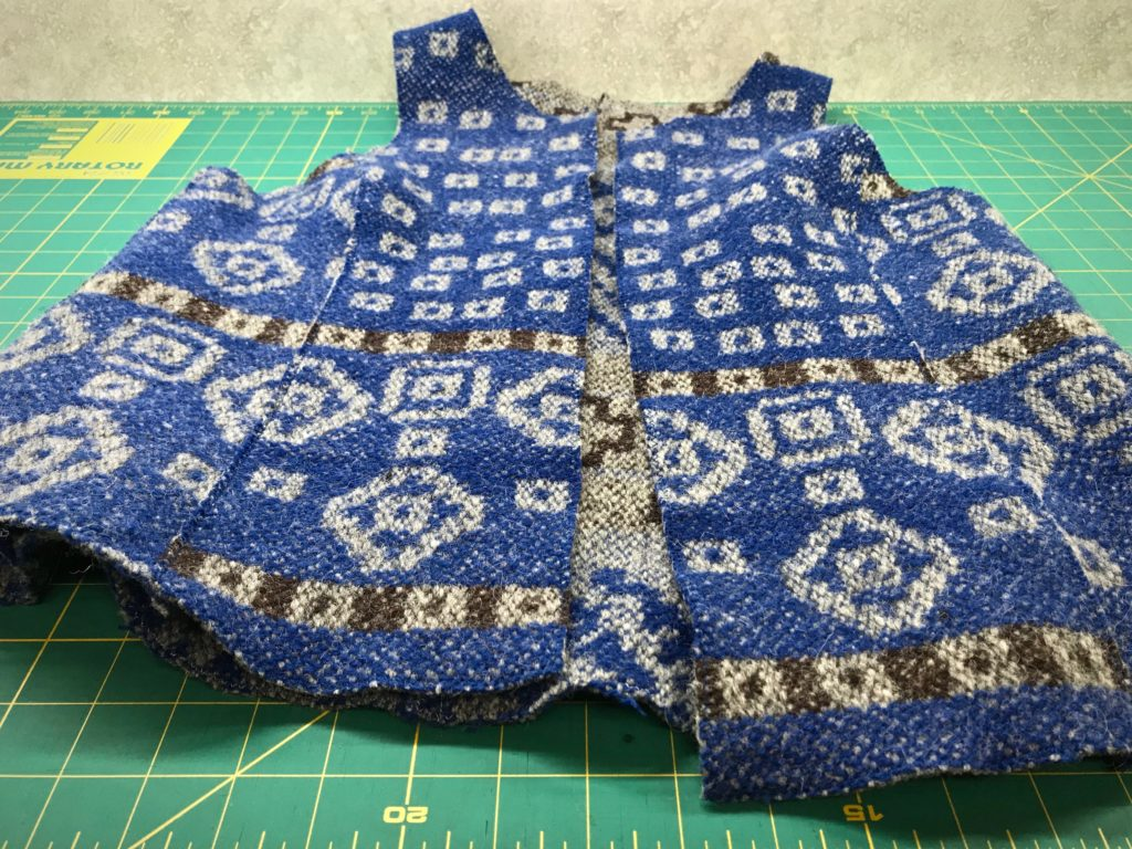 Handwoven vest. Ready for handwork details.