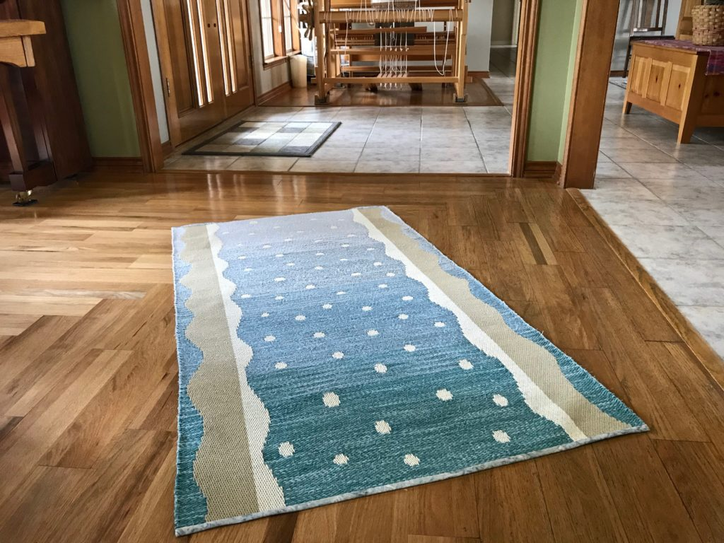 Stony Creek Rag Rug woven on single-unit drawloom! (Design by Kerstin Åsling-Sundberg)