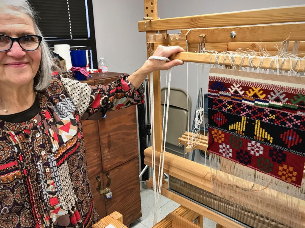 Joanne Hall's Swedish Art Weaves workshop in San Antonio, Texas.