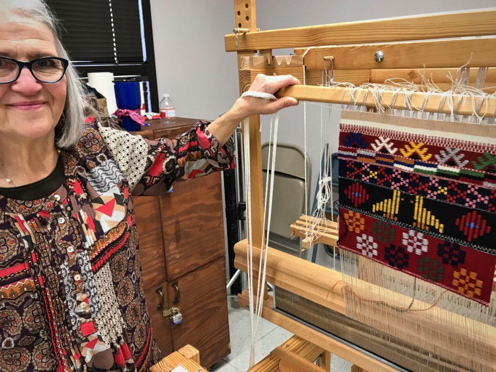 Joanne Hall's Swedish Art Weaves workshop in San Antonio, Texas.