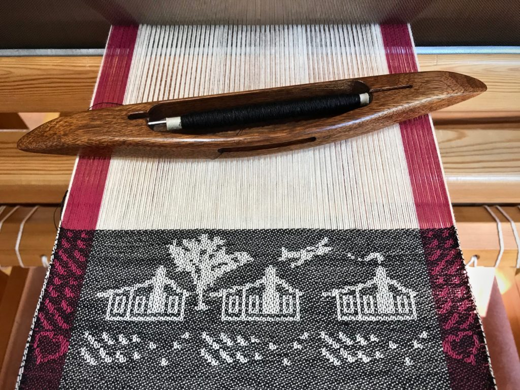 Our Texas Home - woven on the drawloom.