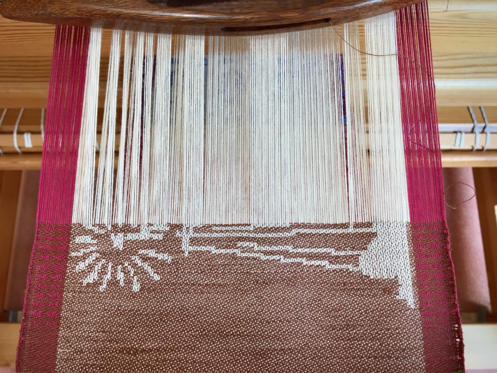 Drawloom weaving, with time-lapse video.