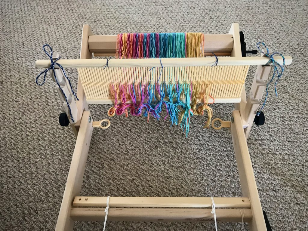 "Glimakra 13.5"" Emilia rigid heddle loom, ready to tie on and start weaving."