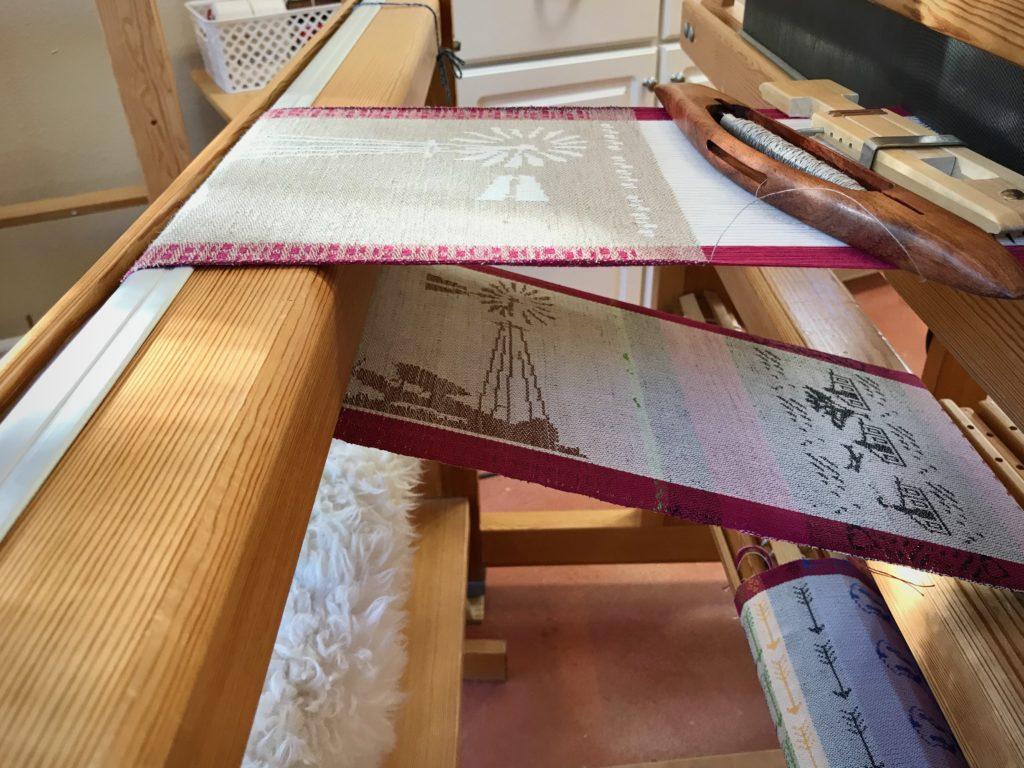 Drawloom weaving.