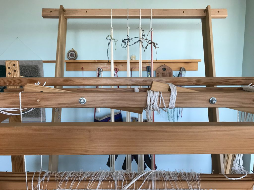 Warping trapeze in use.