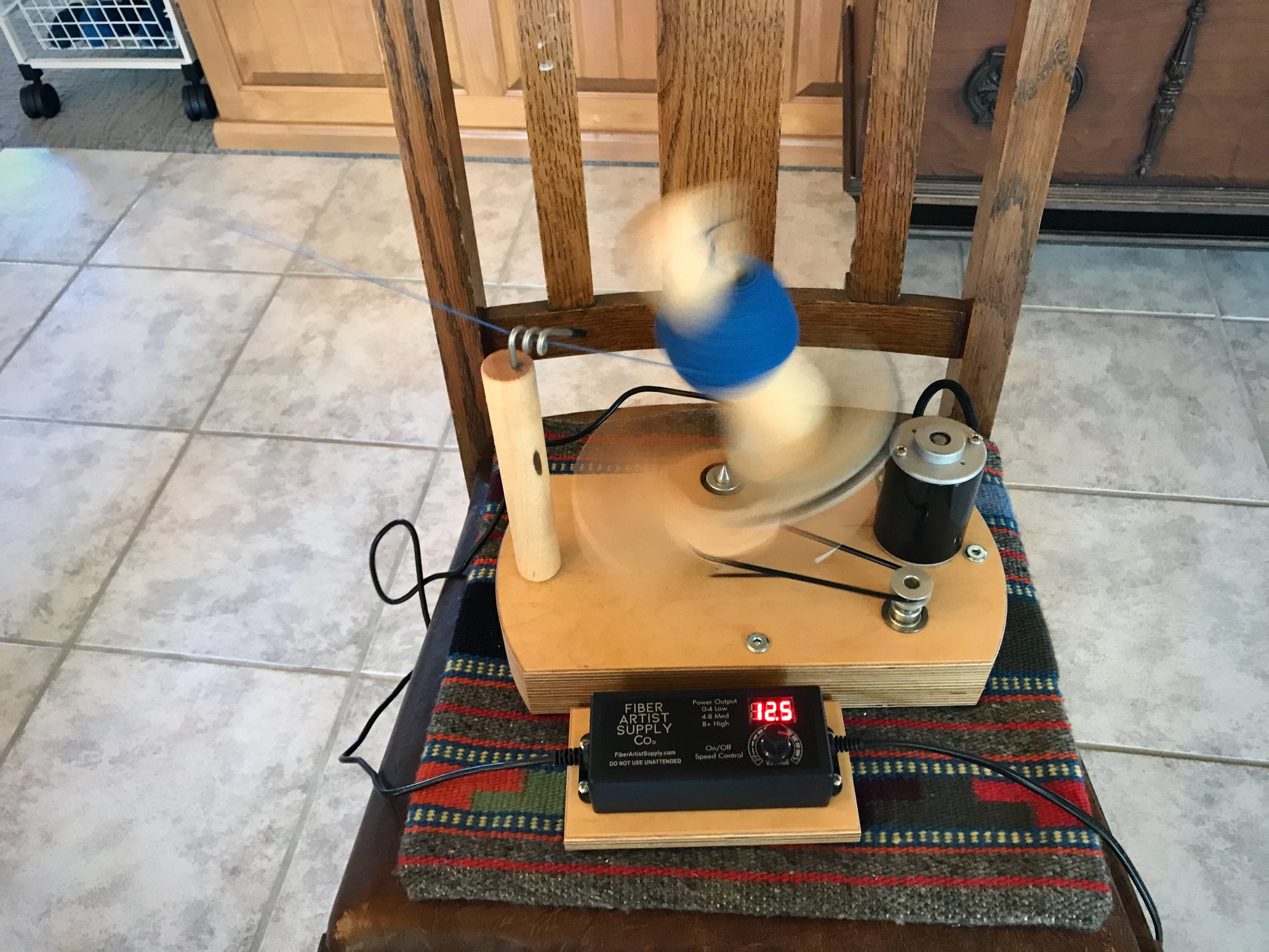 Electric ball winder. Time-saver and arm-saver!