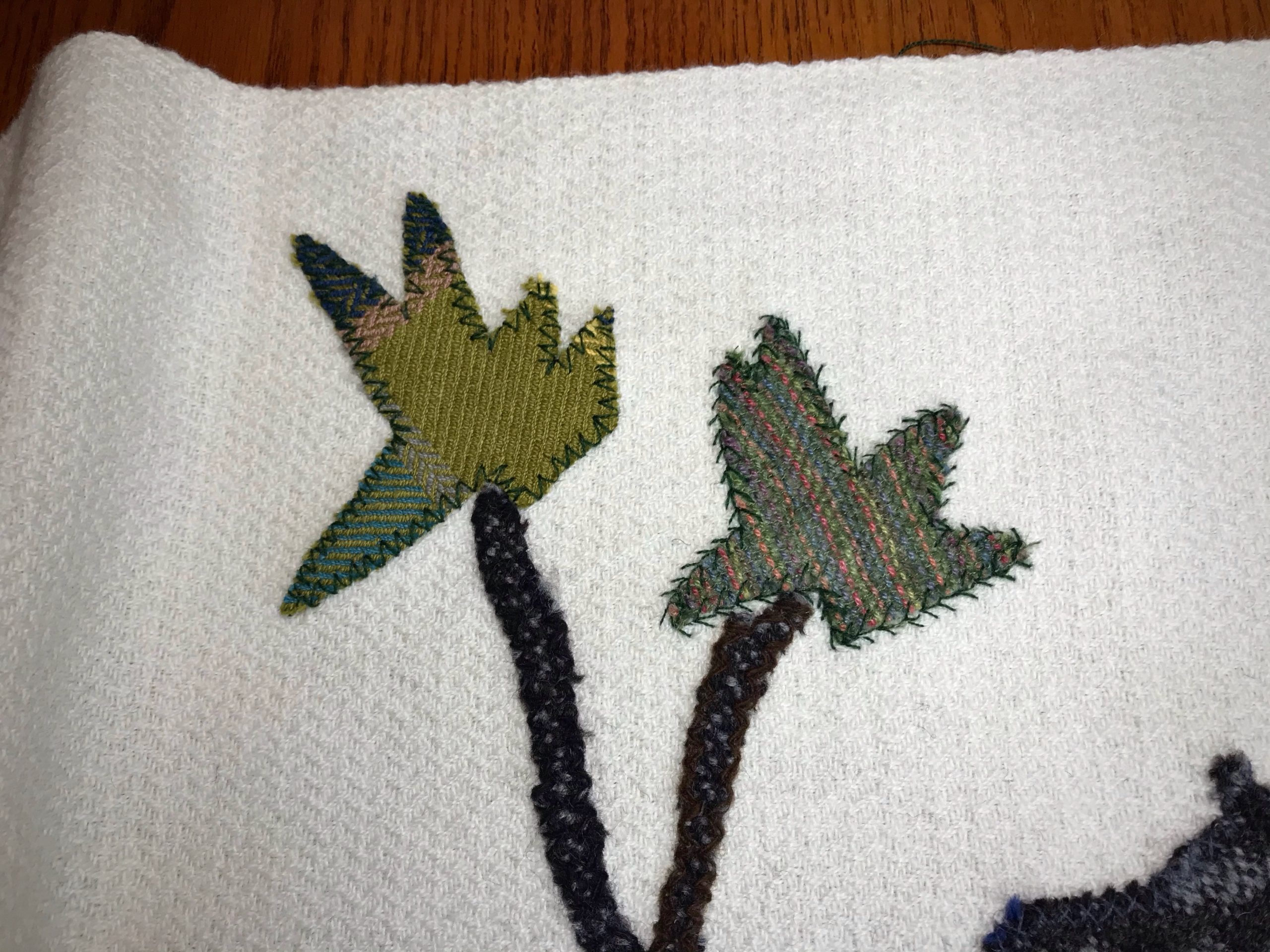 Handwoven applique Nativity project.