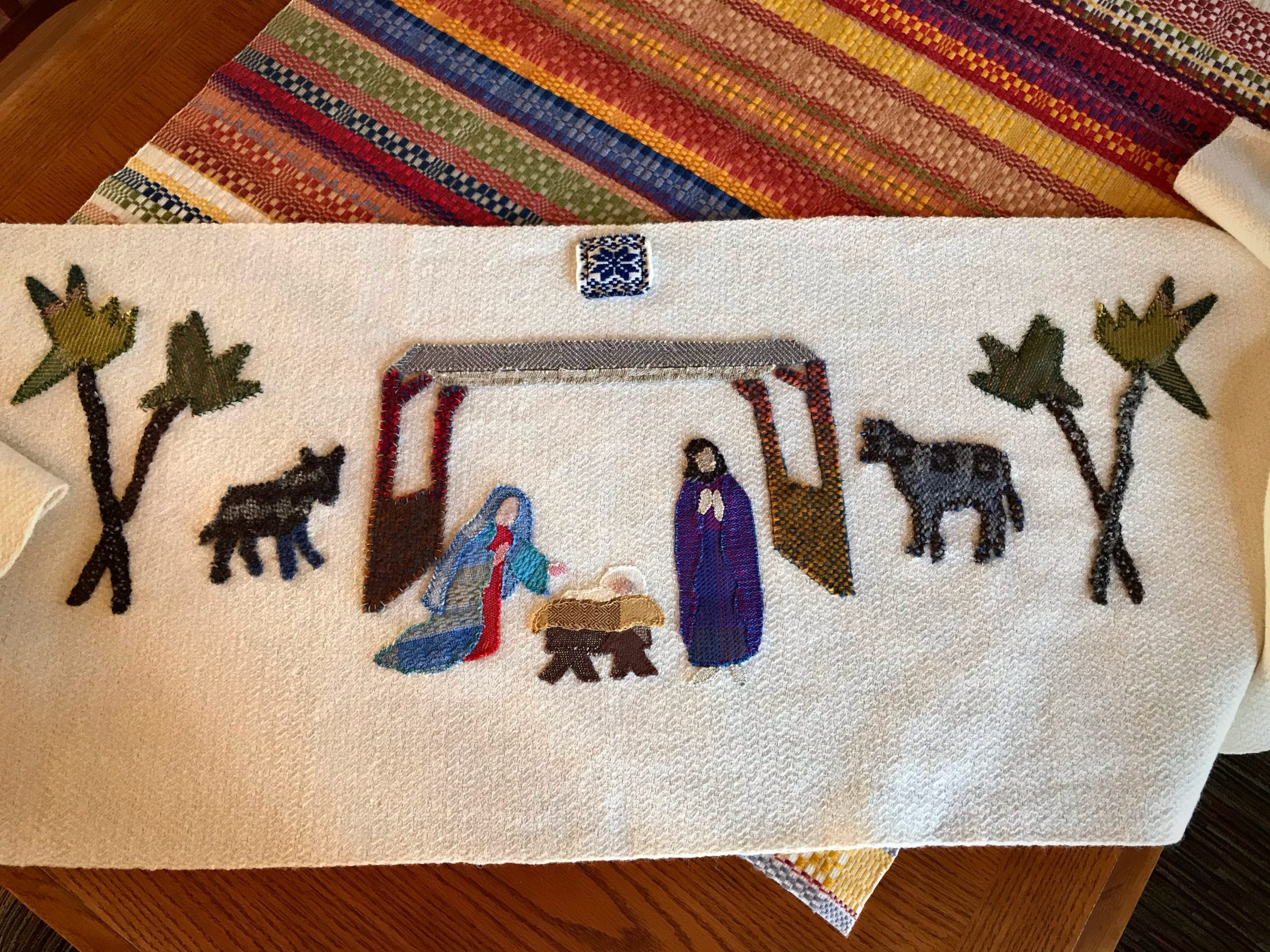 Handwoven Nativity scene.