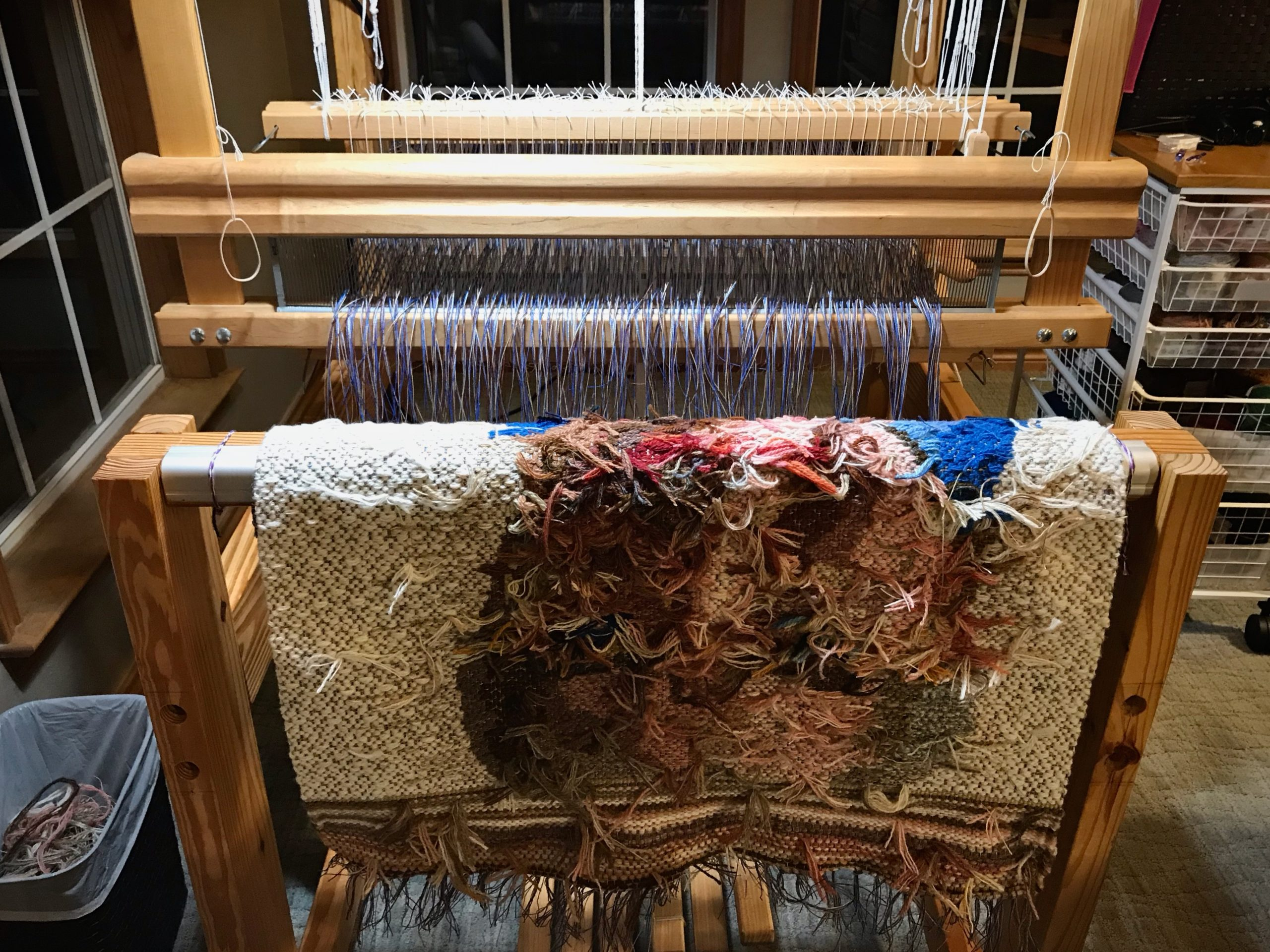 New tapestry, just cut off the loom.