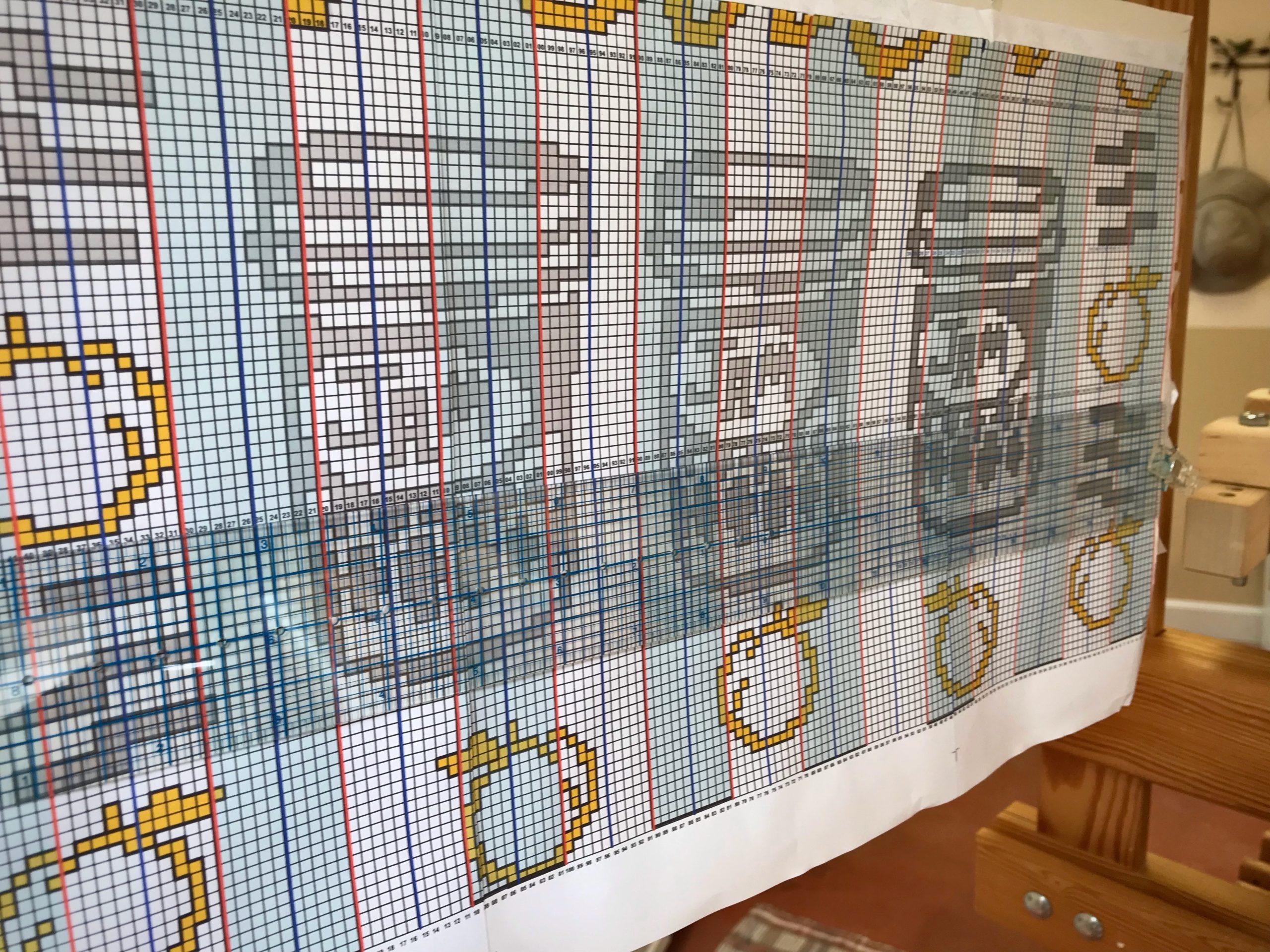 Jam Jars drawloom pattern.