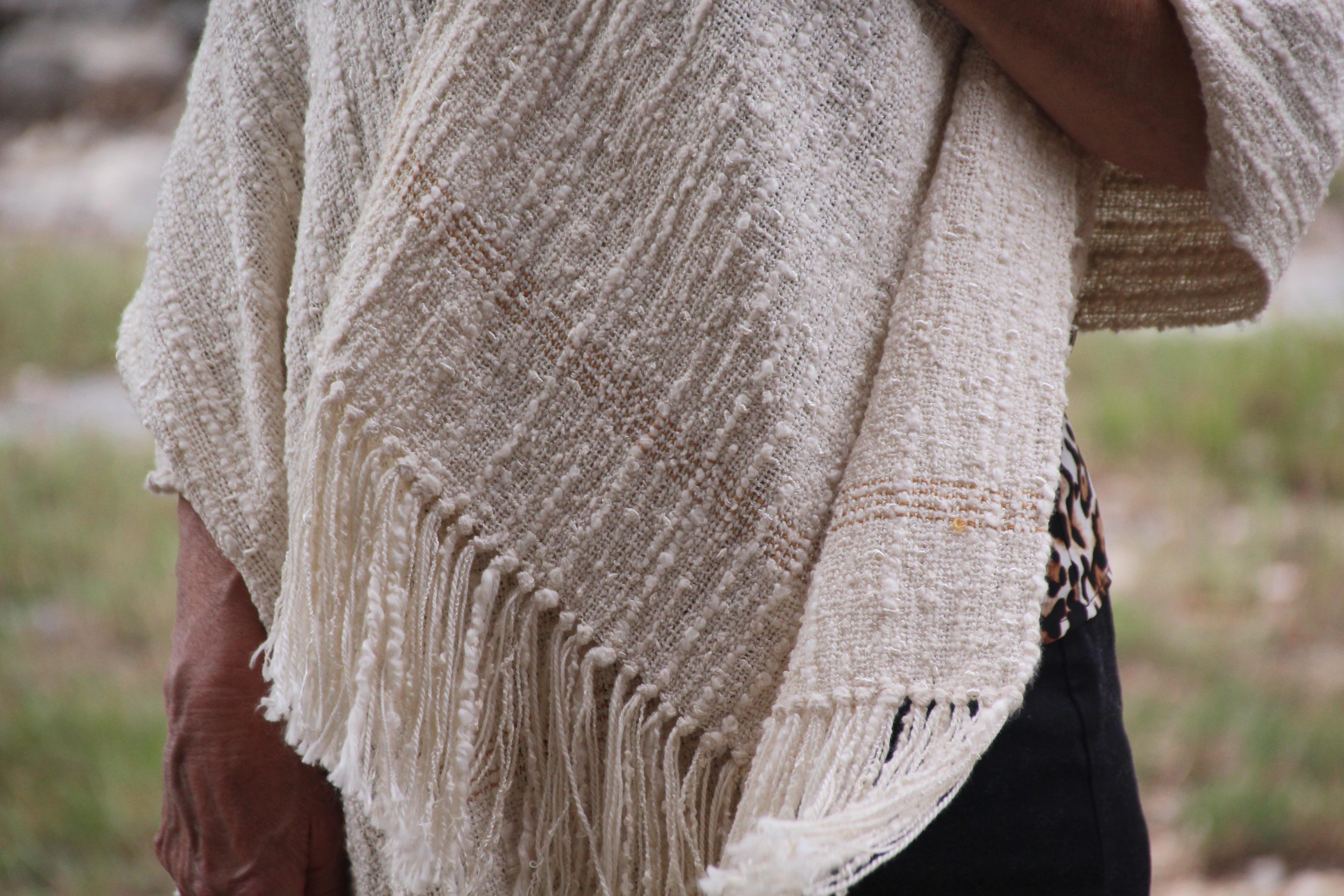 Textured Shawl woven at Homestead Fiber Crafts.