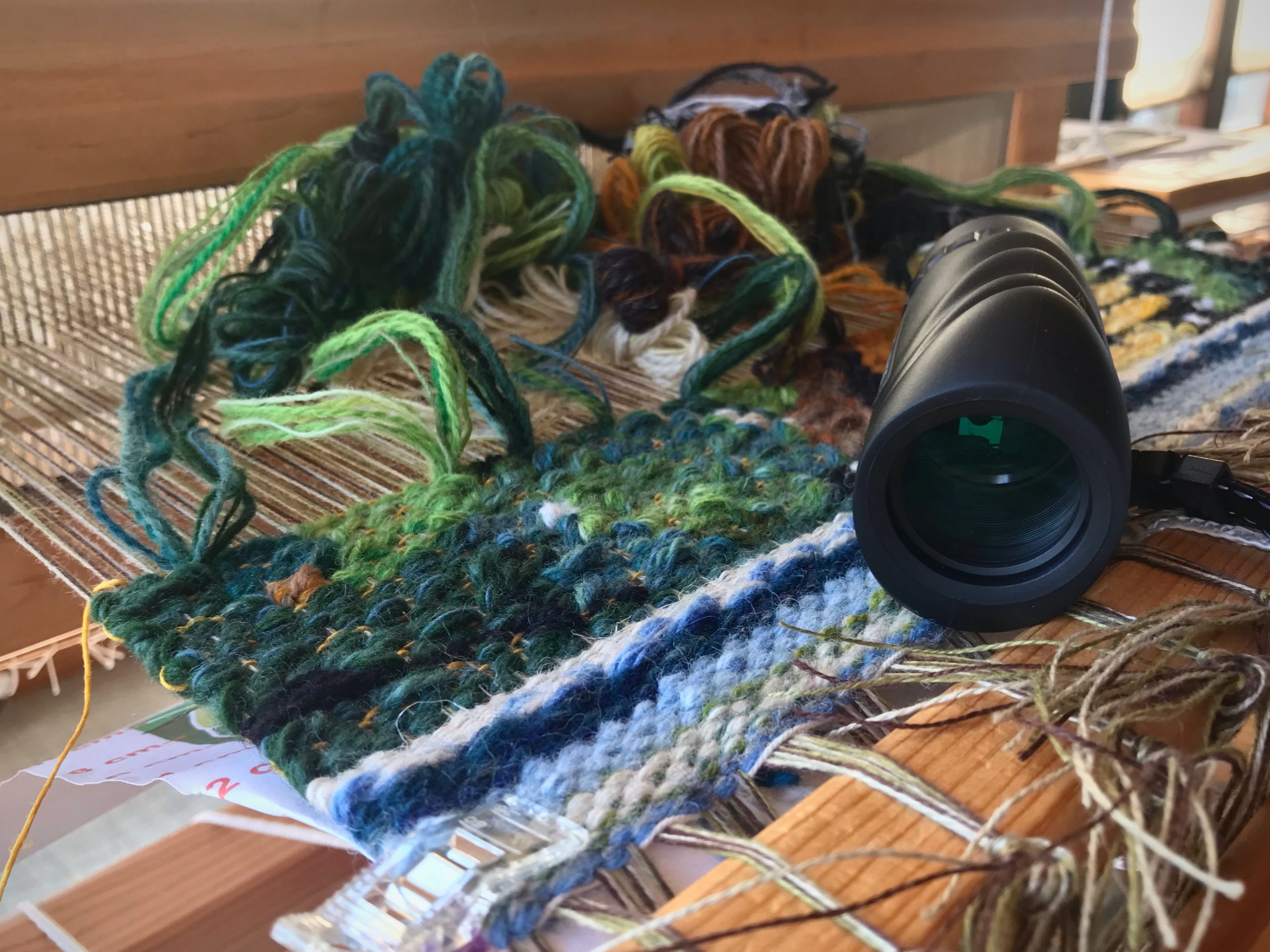 Tapestry on the floor loom, and how to view it.