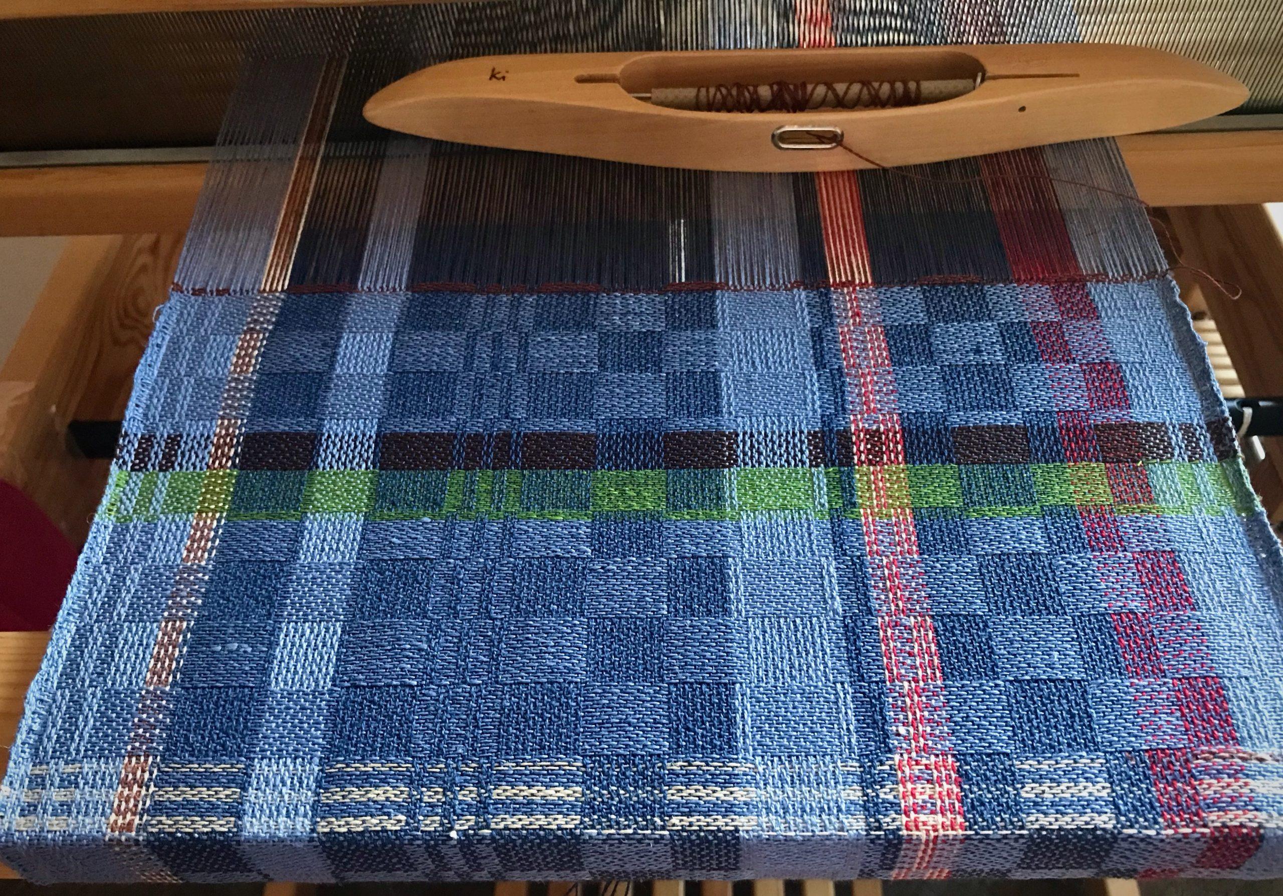 Humble linen wash cloths on the loom.
