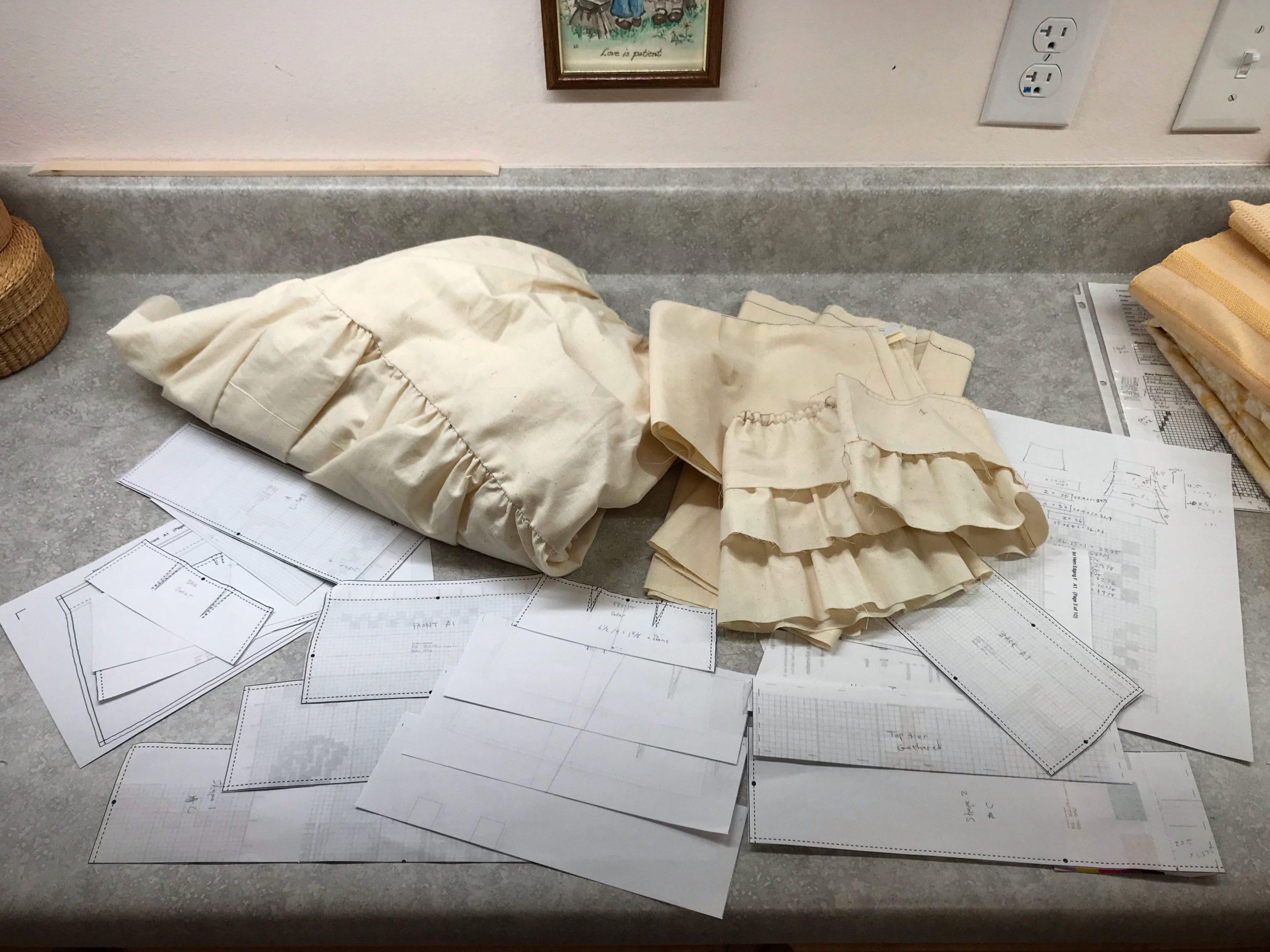 Using Garment Designer to design a layered tiered skirt.